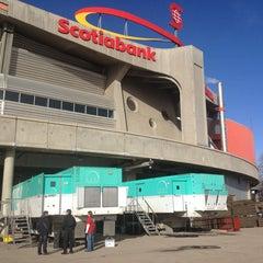 Photo taken at Scotiabank Saddledome by Bryan B. on 2/11/2013