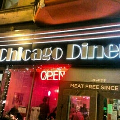 Photo taken at Chicago Diner by James D. on 2/10/2013