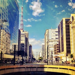 Photo taken at Avenida Paulista by Fred M. on 6/29/2013