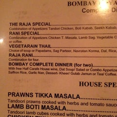 Photo taken at Bombay Indian Restaurant by Robert on 1/13/2014