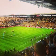 Photo taken at Brøndby Stadion by Stefan Frank t. on 5/16/2013