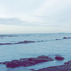 Photo taken at Cullercoats Beach by Paloma C. on 11/8/2014