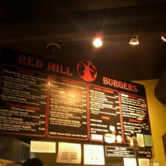Photo taken at Red Mill Burgers by Evan T. on 2/10/2013