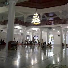 Photo taken at Masjid Agung Al-Falah by Daus S. on 8/8/2013