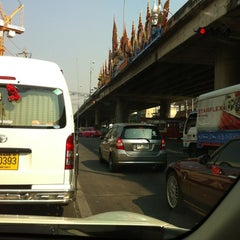 Photo taken at แยกแคราย (Khae Rai Intersection) by Sup-Hot T. on 2/23/2012