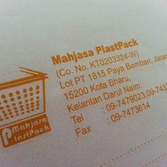 Photo taken at Mahjasa Plastpack by Amirah H. on 4/14/2013