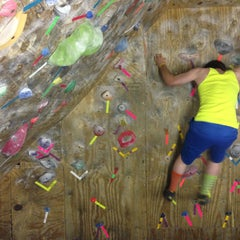 Photo taken at Red Barn Climbing Gym by Derek S. on 5/13/2013