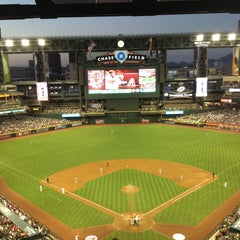 Photo taken at Chase Field by Betty I. on 4/27/2013