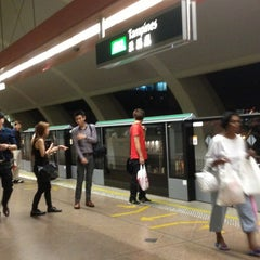 Photo taken at Tampines MRT Station (EW2/DT32) by Stephanie O. on 5/15/2013