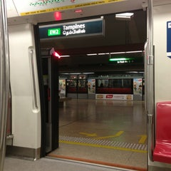 Photo taken at Tampines MRT Station (EW2/DT32) by Stephanie O. on 6/5/2013