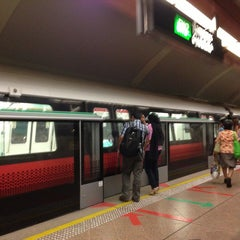 Photo taken at Tampines MRT Station (EW2/DT32) by Stephanie O. on 7/5/2013