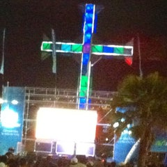 Photo taken at Plaza de la Cruz by Gabo M. on 3/27/2013
