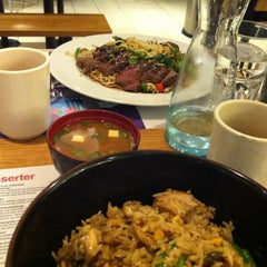 Photo taken at Wagamama by Dung H. on 2/17/2013
