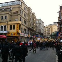 Photo taken at Sirkeci Tramvay Durağı by Sezgin T. on 2/27/2013