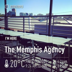 Photo taken at The Memphis Agency by Brenton C. on 1/21/2013
