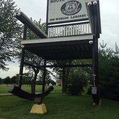 Photo taken at World's Largest Rocking Chair by Rj K. on 9/3/2014