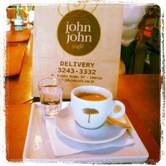 Photo taken at John John Cafe by Auyri F. on 8/27/2012