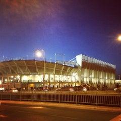 Photo taken at Estadio La Rosaleda by Antonio Francisco L. on 4/13/2013