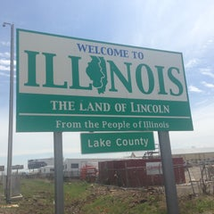 Photo taken at Wisconsin/Illinois State Line by Tom T. on 5/4/2013