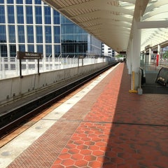 Photo taken at NoMa-Gallaudet U Metro Station by André P. on 7/22/2013
