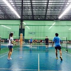 Photo taken at CC Badminton Court by Jill Jin Moo K. on 7/26/2014