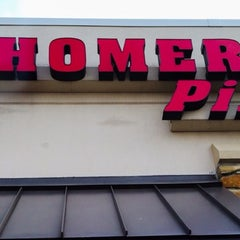 Photo taken at Home Base Pizza by Margie K. on 3/9/2014
