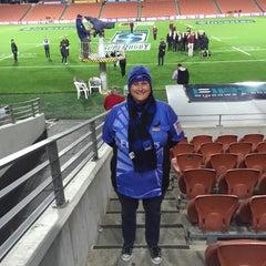 Photo taken at Waikato Stadium by Shazzzabella on 4/24/2015