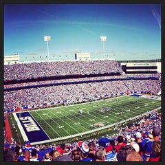 Photo taken at Ralph Wilson Stadium by Sam F. on 9/9/2013