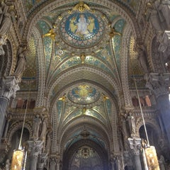 Photo taken at Basilique Notre-Dame de Fourvière by Quentin B. on 3/10/2013