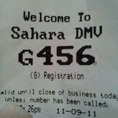 Photo taken at State of Nevada Department of Motor Vehicles by Mandy on 11/9/2011