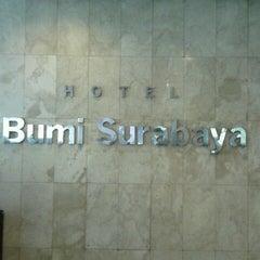 Photo taken at Hotel Bumi Surabaya by Ponky V. on 7/14/2012