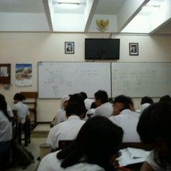 Photo taken at SMA Trimurti Surabaya by ita a. on 10/11/2011