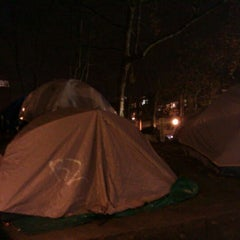 Photo taken at Occupy Seattle by Rand F. on 12/7/2011
