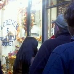 Photo taken at Florence Prime Meat Market by David K. on 11/23/2011