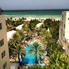 Photo taken at The Raleigh Miami Beach by Victor A. on 7/21/2012