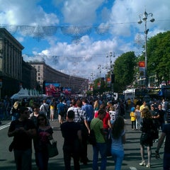 Photo taken at Official Fan Zone of UEFA EURO 2012 by Сергей К. on 6/16/2012