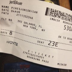 Photo taken at JetBlue Ticket Counter by Junior P. on 8/4/2012