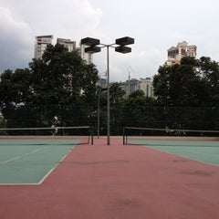 Photo taken at Vista Kiara Tennis Court by Vincent T. on 3/3/2012