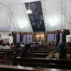 Photo taken at Gereja Katolik Santa Monika by Daniel Hendrato on 5/5/2012