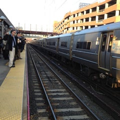 Photo taken at LIRR - Huntington Station by Jody F. on 2/22/2012