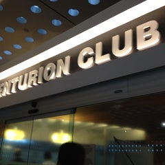 Photo taken at The Centurion Lounge by American Express by Gabriela M. on 8/24/2012