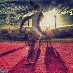 Photo taken at Foothill College Football Field by Ali S. on 4/22/2014