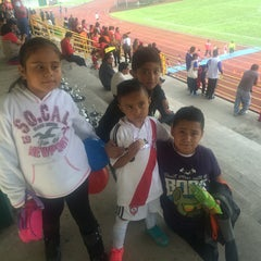 Photo taken at Complejo Deportivo Orizaba (CDO) by Miguel C. on 6/20/2015