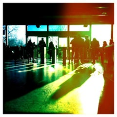 Photo taken at Christie Subway Station by Angie R. on 4/5/2013