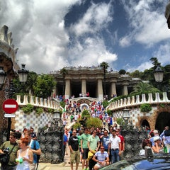 Photo taken at Park Güell by hossy h. on 6/3/2013