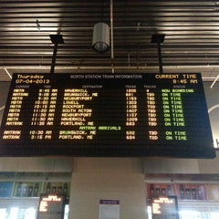 Photo taken at MBTA North Station by Michael G. on 7/4/2013