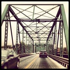 Photo taken at New Hope - Lambertville Bridge by Stacey M. on 10/25/2012
