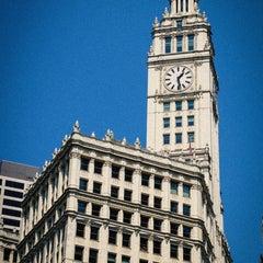Photo taken at Wrigley Building by Jeffrey Z. on 8/25/2013