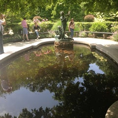 Photo taken at Central Park - Conservatory Garden by Sigalle B. on 6/9/2013