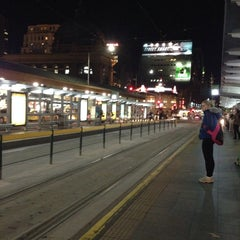 Photo taken at Tram Stop 13 - Federation Square (3/3a, 5, 6, 16, 64, 67, 72) by Boommiie L. on 6/10/2014